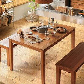 ダイニング テーブル Gracia 幅120 木製 アカシア ブラウン 北欧 シンプル おしゃれ 送料無料 即日出荷可能