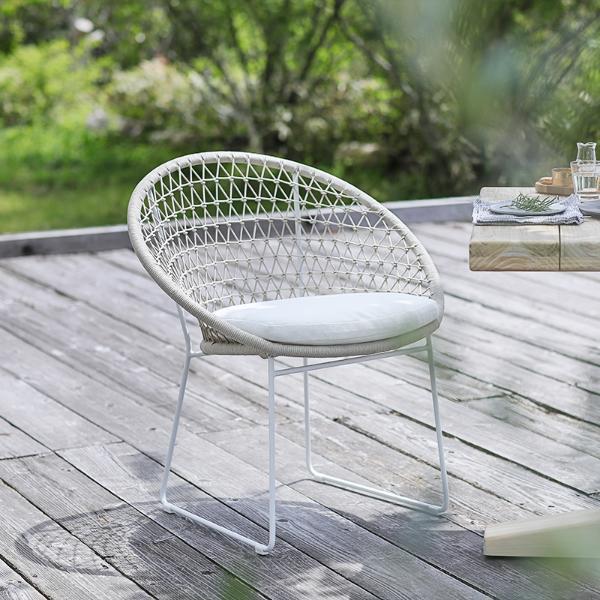 チェア ダイニング ガーデンチェア ガーデンソファー エクステリア ホワイト 白 Woven+ BAY dining chair 送料無料 即日出荷可能