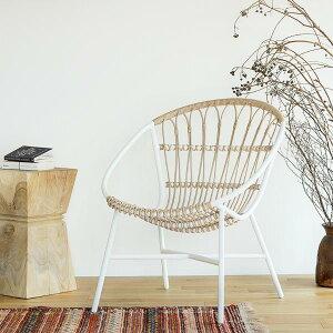 ガーデンソファー ガーデンチェア ラウンジチェア エクステリア 白 ホワイト おしゃれ Woven+ LUSO chair 送料無料 即日出荷可能