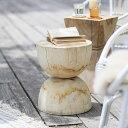 ガーデン テーブル サイドテーブル スツール 木製 屋外 チーク 無垢 Woven+ SUSUN side tableおしゃれ 送料無料 即日出荷可能