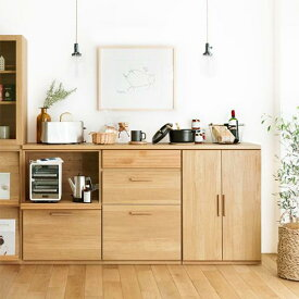 食器棚 キッチンカウンター 北欧 シンプル ナチュラル ブルックリン 木製 おしゃれ 送料無料 日本製 Rekit Iセット
