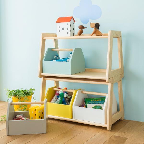 おもちゃ箱 収納 子供 子供部屋 ラック 北欧 ナチュラル 木製 norsta トイラック キッズ収納 おしゃれ おすすめ 送料無料