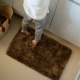 洗える フロアマット マイクロファイバー colette+ 40×60 玄関 洗面所 トイレ 長方形 高反発 厚手 北欧 2層ウレタン ウォッシャブル 軽い 床暖房 おしゃれ おすすめ