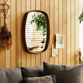 ミラー 鏡 壁掛け KURVE 卓上 北欧 ナチュラル ヴィンテージ スクエア 木製 モダン おしゃれ あす楽対応