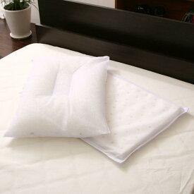枕、ピロー、寝具、、枕 吸湿性ポリエステル綿付き 洗える枕 PIA(43cm×63cm)