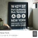 ポスター ヴィンテージ 西海岸 インダストリアル 黒 ブラック ニューヨーク New York 送料無料 【あす楽対応】