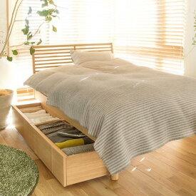 ベッド 北欧 ナチュラル 深型 収納付きベッド NOANA スタンダード タイプ シングル サイズ フレームのみ 送料無料