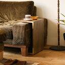 サイドテーブル folk ブラウン 高さ 42cm 49cm 北欧 ヴィンテージ おしゃれ シンプル あす楽対応 送料無料