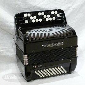 BUGARI Nano BK【ブラック】【最小・最軽量・超コンパクトボタン式アコーディオン】