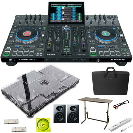 DENON Prime 4 + DJ233 DJテーブル + キャリングケース SET 【保護カバー+USBメモリ+USBケーブル+電源タップ+パワードスピーカープレゼント】