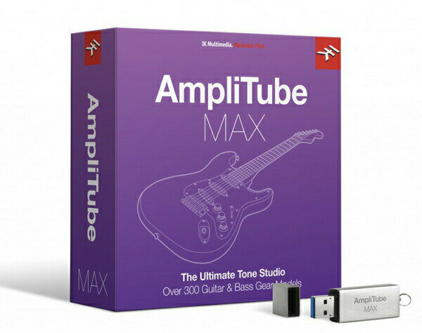IK MULTIMEDIA AmpliTube MAX【AmpliTube 誕生15周年プロモーション!数量限定特価!】【あす楽対応】【p5】
