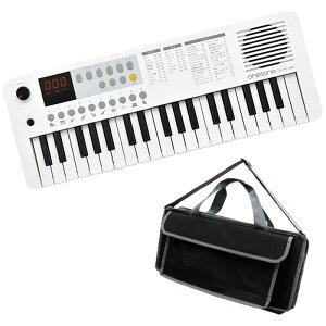 キーボード 電子ピアノ キョーリツOTK-37M WH【ホワイト】+汎用バッグセット