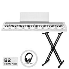 KORGB2-WH(ホワイト)X型スタンドセット【お手入れクロス、汎用ヘッドホン付き】【代引不可】【予約商品6月27日発売予定】