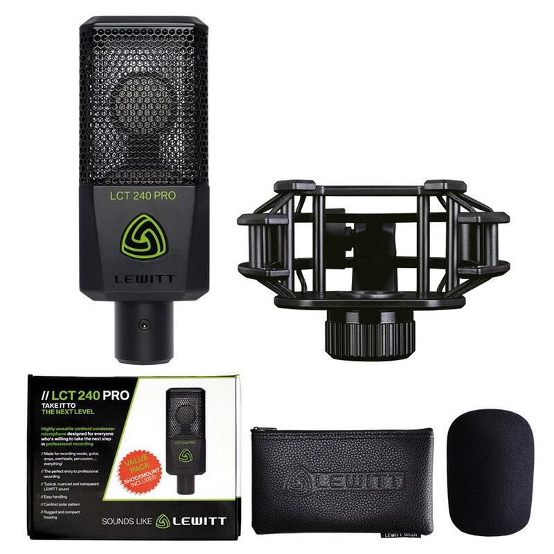 LEWITT LCT240 Pro ValuePack Black【数量限定モデル】【今なら専用ポップフィルター付!】