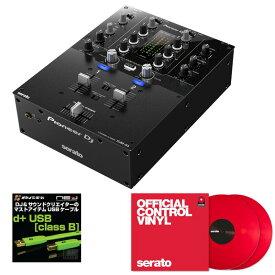 Pioneer DJ DJM-S3 + Seratoコントロールヴァイナル RED DVS SET 【高品質のOYAIDE(オヤイデ) d+USBケーブル class B(1.0m)をプレゼント!】