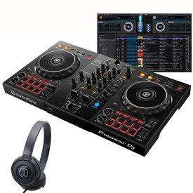 Pioneer DJ DDJ-400 ATH-S100BK 初心者ヘッドホンセット【セットアップチュートリアル機能搭載】【あす楽対応】【土・日・祝 発送対応】