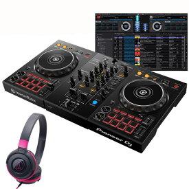 Pioneer DJ DDJ-400 ATH-S100BPK 初心者ヘッドホンセット【セットアップチュートリアル機能搭載】【あす楽対応】【土・日・祝 発送対応】