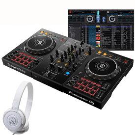 Pioneer DJ DDJ-400 ATH-S100WH 初心者ヘッドホンセット【セットアップチュートリアル機能搭載】【あす楽対応】【土・日・祝 発送対応】