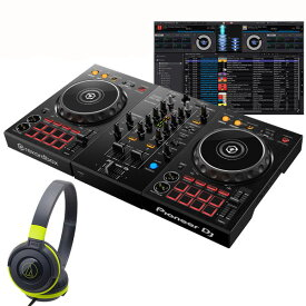 Pioneer DJ DDJ-400 ATH-S100BGR 初心者ヘッドホンセット【セットアップチュートリアル機能搭載】【あす楽対応】【土・日・祝 発送対応】