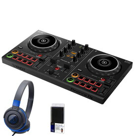 Pioneer DJ DDJ-200 + ATH-S100BBLヘッドホン DJ初心者セット【今ならモバイルバッテリープレゼント!】 【ikbp1】
