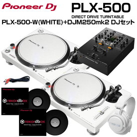 Pioneer DJ PLX-500-W+DJM-250MK2 DVS入門 SET