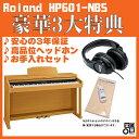 Roland HP601-NBS(カラー:ナチュラルビーチ調仕上げ)【数量限定!豪華3大特典付き!】【全国配送・組立設置無料(※沖縄・離島は除く)】【p10】