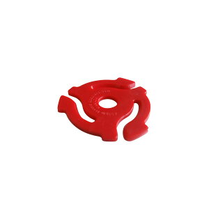 stokyo Plastic 45RPM Insert Adapter【Red】 (1袋20個入り)