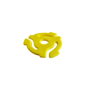 stokyo Plastic 45RPM Insert Adapter【Yellow】 (1袋20個入り)