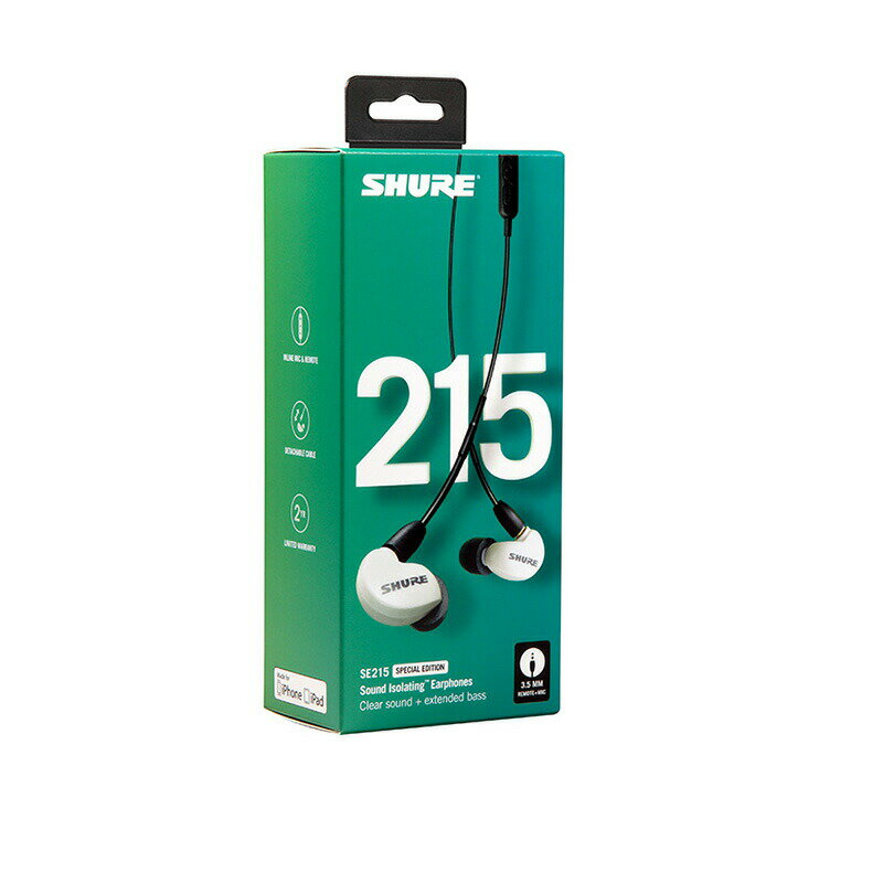 SHURE SE215SPE-W-UNI-A (ホワイト)【国内正規品・2年間保証】【予約商品 5月下旬以降予定】