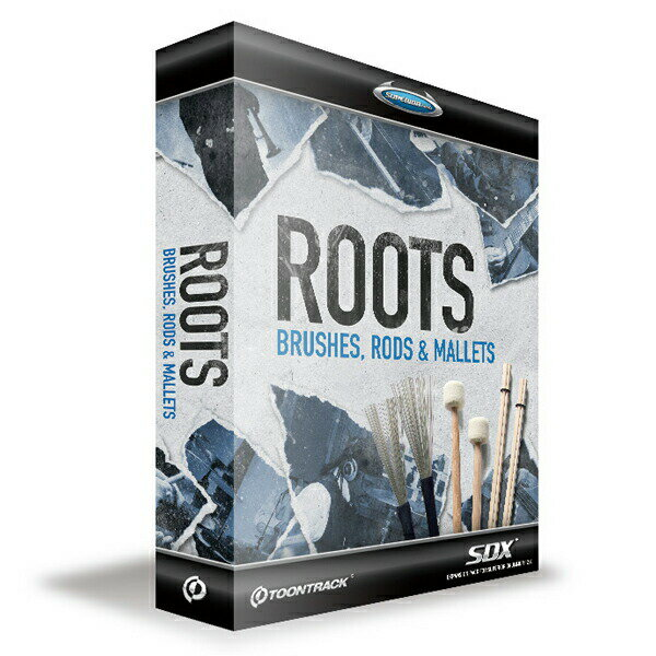 TOONTRACK SDX ROOTS-BRUSHES, RODS & MALLETS【期間限定!TOONTRACK SDX 35%OFF!!】