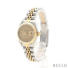 ロレックス ROLEX デイトジャスト レディース 腕時計 自動巻き SS K18YG シルバー イエローゴールド ゴールド文字盤 S番 69173 【中古】