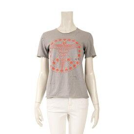 ルシアンペラフィネ lucien pellat-finet Tシャツ カットソー コットン グレー オレンジ ダメージ加工 【レディース】【中古】【special】【送料無料】