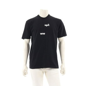 【10%OFFクーポン&P5倍】シュプリーム Supreme Supreme × COMME des GARCONS SHIRT Split Box Logo Tee Tシャツ カットソー 黒 白 2018AW 【メンズ】【中古】【送料無料】