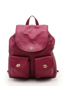 5c8f5359de48 中古 【全品10%OFFクーポン&ポイント10倍6月11日(火)1時59分まで】コーチ COACH BILLIE BACKPACK IN PEBBLE  LEATHER ビリー バックパック リュック レザー 紫 F37410 ...