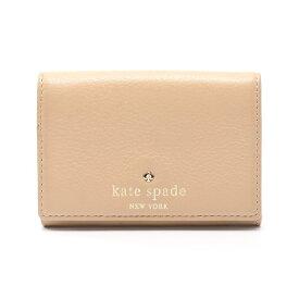 ケイト・スペード kate spade COBBLE HILL CHRISTINE 名刺入れ カードケース レザー ベージュ PWRU2796 【レディース】【中古】【送料無料】
