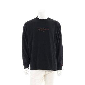 ヨウジヤマモト Yohji Yamamoto Yohji Yamamoto POUR HOMME × New Era L/S Cotton Tee Tシャツ カットソー 長袖 黒 茶色 HC-T99-079 【メンズ】【中古】【送料無料】