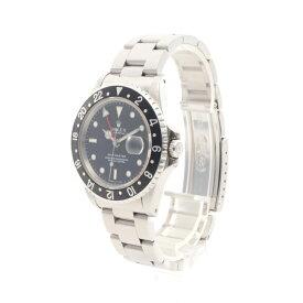 ロレックス ROLEX GMTマスター メンズ 腕時計 自動巻き SS シルバー ブラック ブラックベゼル ブラック文字盤 W番 16700 【中古】