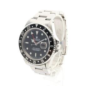 ロレックス ROLEX GMTマスター メンズ 腕時計 自動巻き SS シルバー ブラックベゼル ブラック文字盤 A番 16700 【中古】
