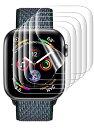 5枚入 Apple Watch フィルム AUNEOS 独創位置付け設計 TPU材 3D全面保護 浮き防止 取扱簡単 気泡レス 柔らかい 極薄 …