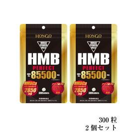 【あす楽】Hongo HMB PERFECT HMB パーフェクト 85500 (350mg×300粒) HMBカルシウム 栄養補助食品 ※軽減税率対象商品 【2個セット】