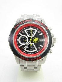 送料無料 HUNTING WORLD/ハンティングワールド ヴェルサーリオ クロノグラフ腕時計(替えベルト付) 中古