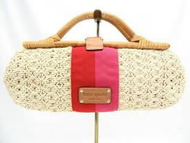 Kate spade/ケイトスペード ラタン編み込みハンドバッグ 中古