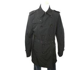 BURBERRY BLACK LABEL バーバリー ブラックレーベル ステンカラー コート LLサイズ 中古 送料無料