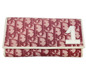 Christian Dior クリスチャンディオール トロッター 二つ折り長財布 中古 送料無料