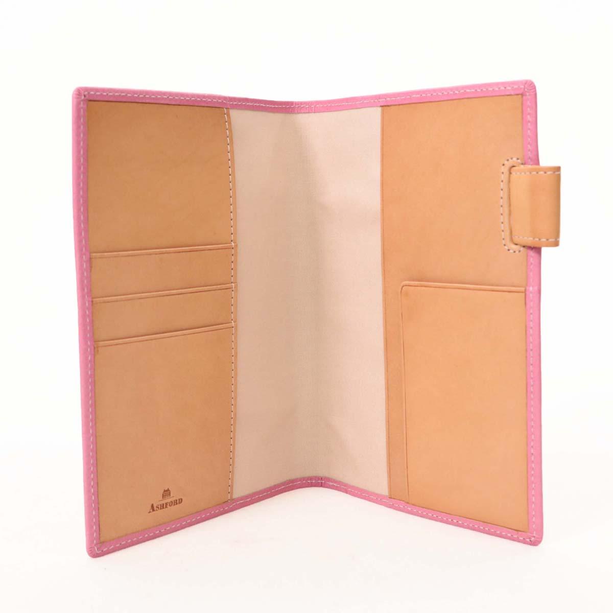 【中古】未使用品☆アッシュフォード システム手帳カバー ピンク☆  レザー/革/13646-CH0818