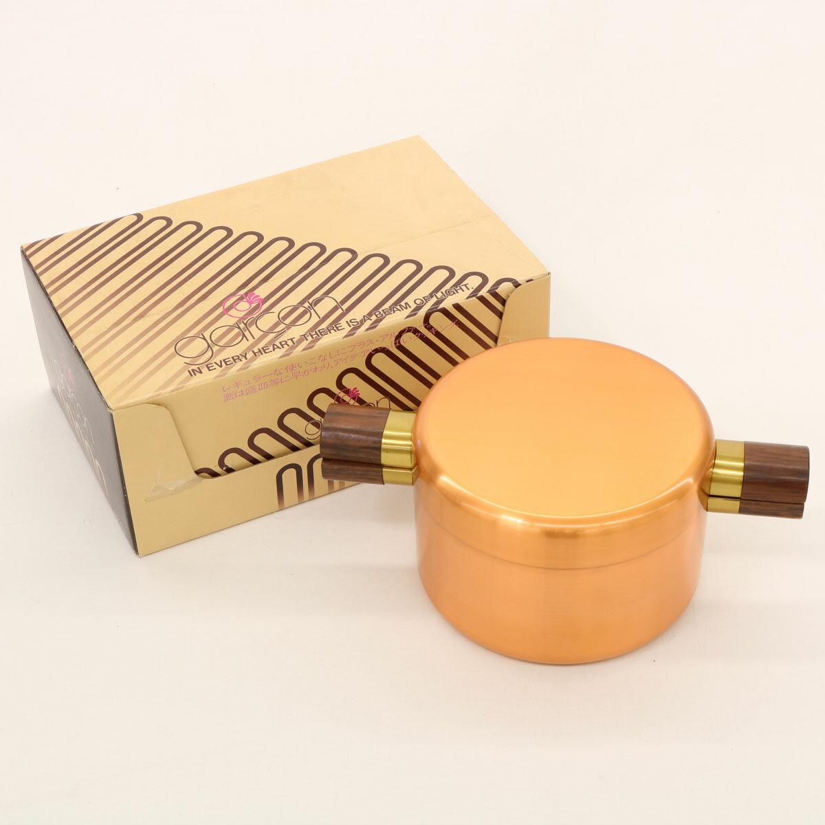 【中古】美品☆新光金属 ギャルソンシリーズ copper100 純銅標準型両手鍋 16cm ☆ 21108-KY0119