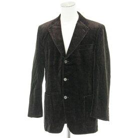 【中古】◆BURBERRY バーバリー ベロア テーラードジャケット LLサイズ◆ brown /茶/ブラウン/綿/コットン/長袖/上着/メンズ/アウター