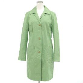 【中古】◆ブルックスブラザーズ スプリングコート サイズ4◆ green /緑/グリーン/コットン/BROOKS BROTHERS/レディース/アウター