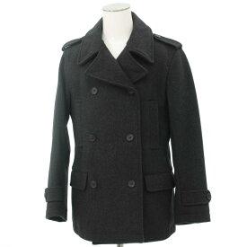 【中古】●SOPHNET(ソフ)ウールカシミヤ メルトンPコート S●  gray/グレー/重厚