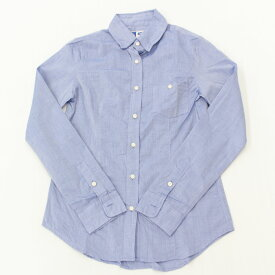 【中古】良好◆アパルトモン 長袖 シャンブレーシャツ S◆ blue/ブルー/青/L'Appartement/綿100%/コットン/レディース/トップス